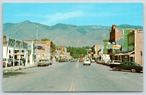 Salmon Idaho~Main Street~A-1 Used Cars & Trucks~Ford Dealer~V Store~1960s Cars