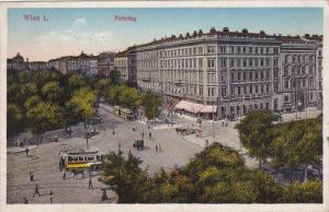 Street View, Trolleys, Parking, Wien I (Vienna), Austria, 1900-1910s