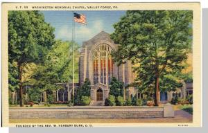 Valley Forge, Pennsylvania/PA Postcard, Washington Chapel