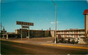 Albuquerque New Mexico 1967 Route 66 Lorlodge Motel Roadside Postcard 11125
