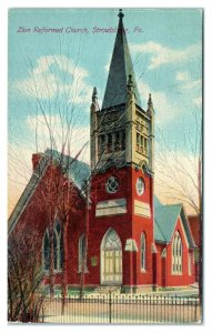 Zion Reformed Church, Stroudsburg, PA Postcard *6S(3)6