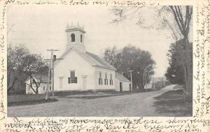 East Dixfield Maine Free Baptist Church Street View Antique Postcard K102682