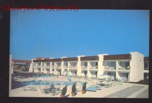 AMARILLO TEXAS ROUTE 88 ROYAL INN HOTEL SWIMMING POOL VINTAGE POSTCARD