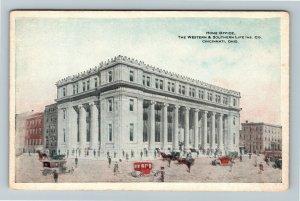 Cincinnati OH, Office Western & Southern Life Insurance, Vintage Ohio Postcard