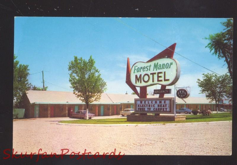 LEBANON MISSOURI ROUTE 66 FOREST MANOR MOTEL VINTAGE ADVERTISING POSTCARD