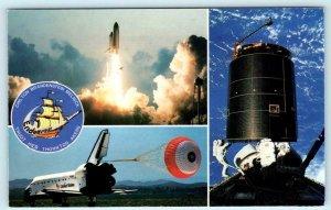 KENNEDY SPACE CENTER, FL ~ Space Shuttle ENDEAVOR Maiden Voyage 1992   Postcard