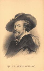 PETER PAUL RUBENS~FLEMISH BAROQUE ARTIST~DRAWN PORTRAIT ERN. THILL PUBL POSTCARD