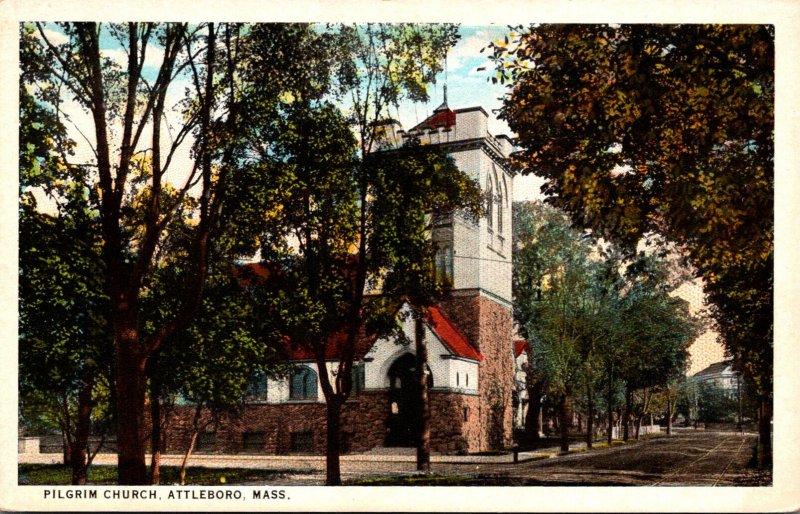 Massachusetts Attleboro The Pilgrim Church Curteich