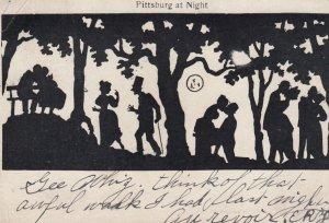 PITTSBURG at Night , Pennsylvania , 1906