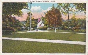 Michigan Owosso Fayette Square 1942
