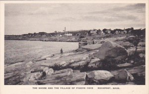 Massachusetts Rockport The Shore And The Village Of Pigeon Cove Albertype