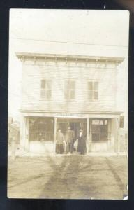 RPPC INDIANA OR ILLINOIS POST OFFICE BUILDING DOWNTOWN REAL PHOTO POSTCARD