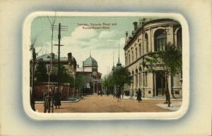 china, TIENTSIN TIANJIN, Victoria Road (1910s) Blue Embossed Postcard No. 27
