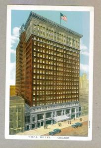YMCA Hotel Chicago unused linen Curteich Postcard