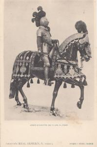 Philip Felipe 2 II III King Of Portugal in 1598 & Spain Knight Armour Horse P...