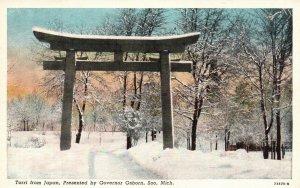 Soo, Michigan, MI, Torri from Japan, Governor Osborn, Vintage Postcard g8911