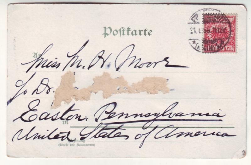 P507 JLs old germany stamped postcard famous men