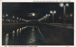 PANAMA CANAL, 1900-1910s; Gatun Locks By Moonlight