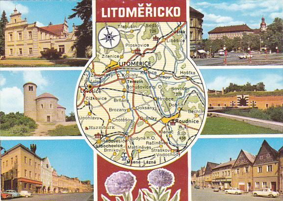 Czechoslovakia Litomericko Multi View With Map