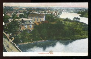 dc206 - HUNTINGDON Quebec 1910s View from The River
