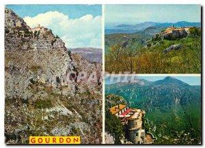Modern Postcard Souvenir de Gourdon and the Gorges du Loup