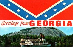Georgia Greetings Stone Memorial Park & Confederate Flag
