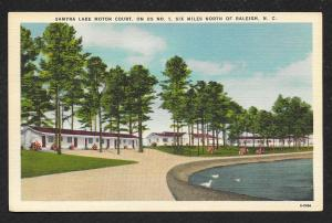 Driveway View Samyra Lake Motor Court Raleigh North Carolina Unused c1930s