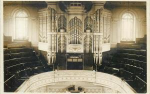 Theatre / Town Hall Organ real photo postcard United Kingdom