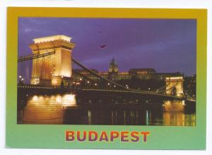Chain Bridge Budapest Hungary Postcard