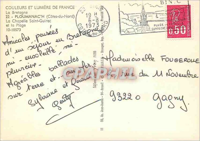 Postcard Modern Ploumanac'h (North Cotes) Brittany Colors and Light of France...