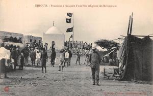 Djibouti Procession a l'occasion d'une Fete religieuse, Mahometans Feast, Flags