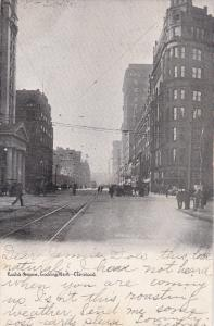 Euclid Avenue, Looking West, CLEVELAND, Ohio, PU-1906