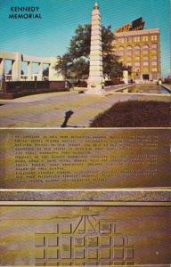 Texas Dallas John Fitzgerald Kennedy Memorial Plaque