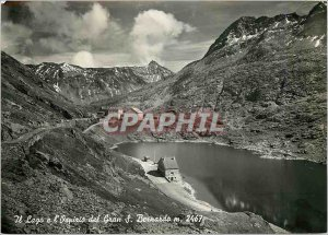 Postcard Modern Lake and Great St. Bernard Hospice