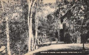 Potter Place New Hampshire Camp Kenwood Theatre Entrance Postcard JD933765