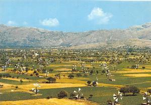 Greece Crete Plateau of lassithi Windmills panorama