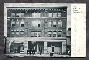dc1095 - WASHINGTON Pa 1908 YMCA Building Postcard