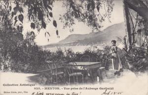 MENTON, Vue prise de l'Auberge Garibaldi, Alpes Maritime, France, PU-1905