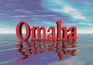 Nebraska Omaha Large Letters
