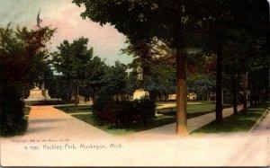 Michigan Muskegon Hackley Park 1909 Rotograph