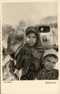 libya, Native Young Girls, Arab Sisters (1940s) H. Schlösser Photo