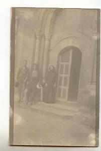 Real Photo, Two Men, Monk/Priest, Arabic Writing, 1924