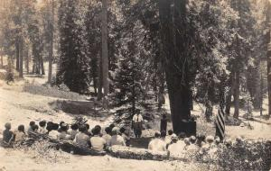 Fresno California Girl Scout Camp Real Photo Antique Postcard K61661