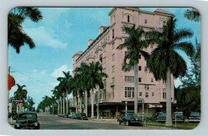 Bradenton FL- Florida, Manatee River Hotel, Tropical  Scene, Chrome Postcard