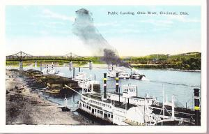 Public Landing, Ohio River, Cincinatti Ohio - River Boats
