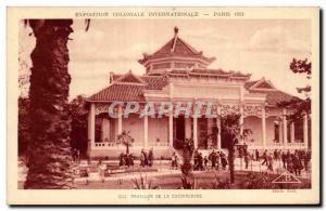Old Postcard International Colonial Exposition Paris 1931 Pavillon De Cochin