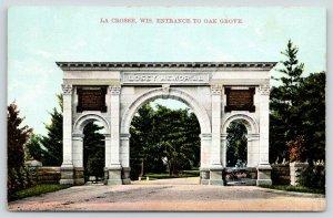La Crosse Wisconsin~Oak Grove Cemetery Entrance~Lawyer Joseph Losey Arch~c1910