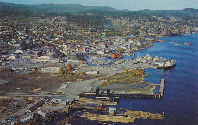 Aerial View, Harbor at Nanaimo, British Columbia, Canada, 40-60´s