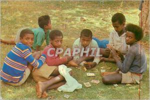 Postcard Modern Fnfants From Ethiopia to Playing Cards These Faces Open On Fu...