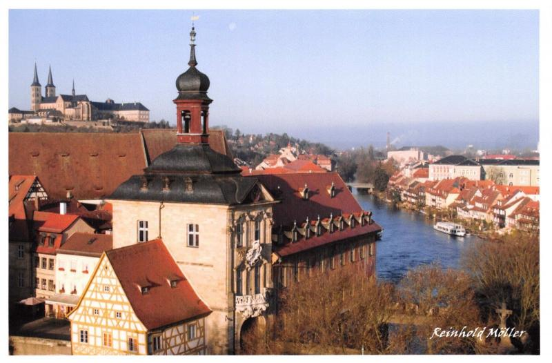 Postcard The Old Townhall of Bamberg, Das alte Rathaus, Germany 64D